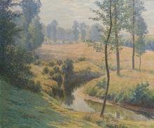 Rodolphe Paul WYTSMAN - Pintura - Le ruisseau, matinée d'été