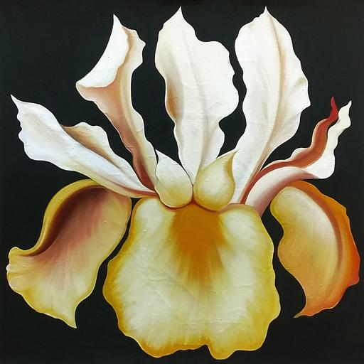 Lowell NESBITT - 绘画 - JAPANESE IRIS