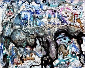 Saverio FILIOLI - Painting - Silenzi che bruciano