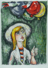 Al Jourdain ALJOURDAIN - Print-Multiple - Girl with Balloons