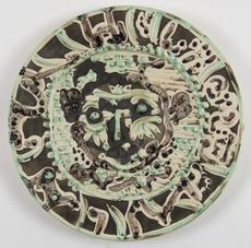 巴勃罗•毕加索 - 陶瓷  - Faune au visage tourmenté