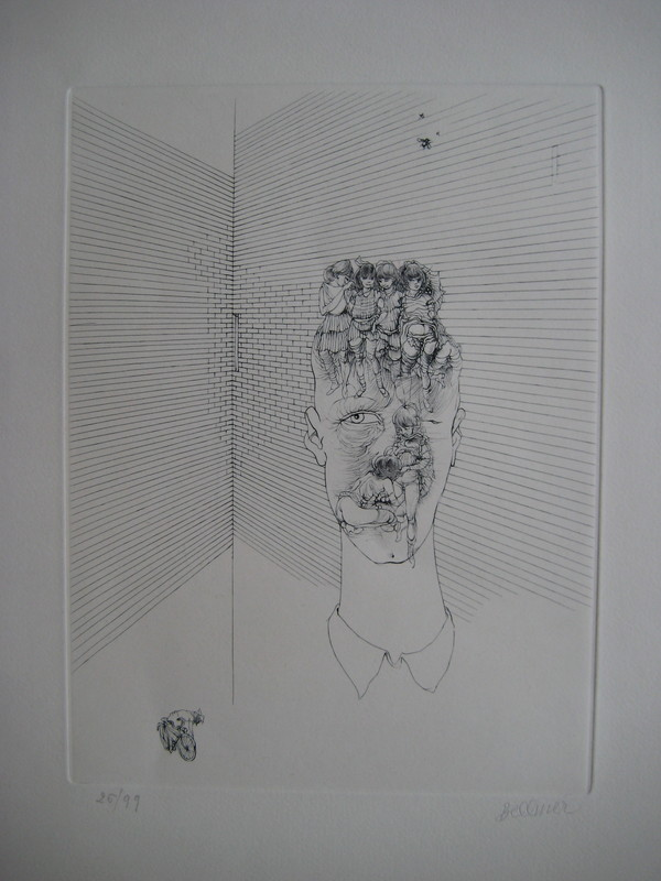 Hans BELLMER - Grabado - GRAVURE 1971 SIGNÉ AU CRAYON NUM/99 HANDSIGNED ETCHING