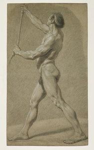 Nicolas Bernard LÉPICIÉ - Drawing-Watercolor - Academy of a standing man, left profile