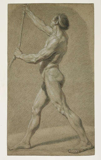 Nicolas Bernard LÉPICIÉ - Drawing-Watercolor - Academy of a standing man, left profile
