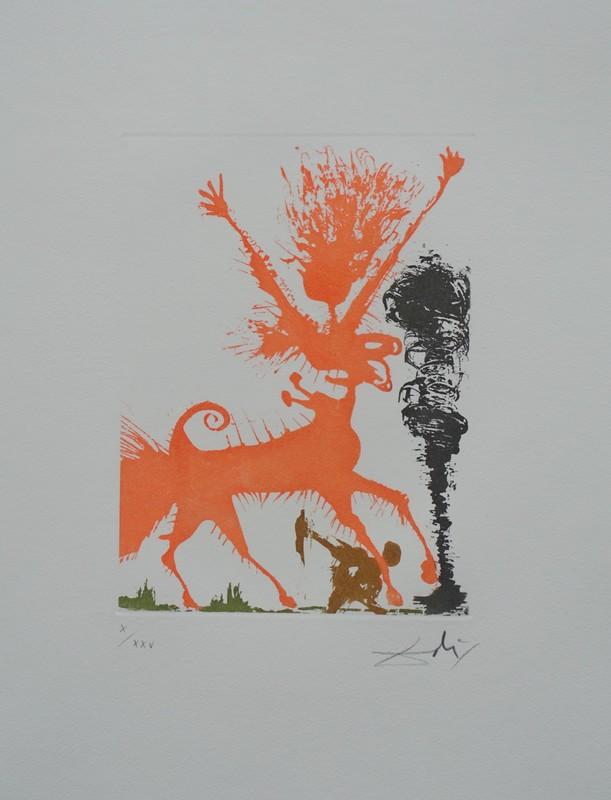 萨尔瓦多·达利 - 版画 - Huit péchés capitaux