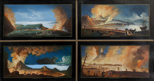 Antonio COPPOLA - Gemälde - Eruptions of Vesuvius