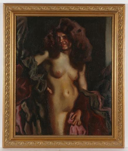 """Hugo VON HABERMANN - Painting - """"Female Nude"""", Oil Painting"""