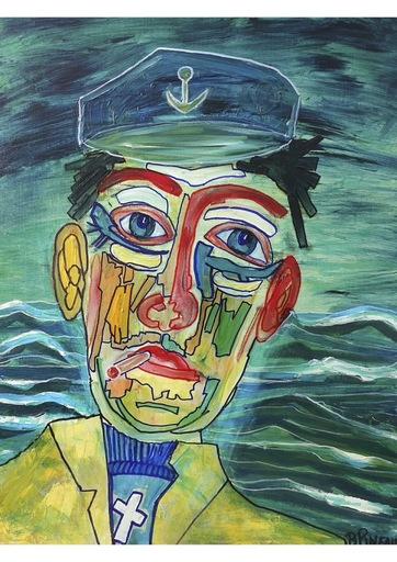 Bernard PINEAU - Painting - H088 Raymond