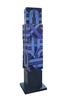 Michel BISBARD - Sculpture-Volume - Totem rotatif violet
