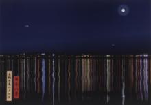 Julian OPIE - Grabado - View of moon over Manatsuru peninsula