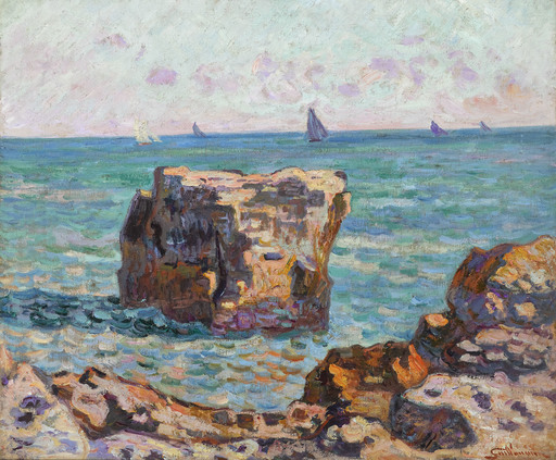 Armand GUILLAUMIN - Pintura - SAINT-PALAIS, LA PIERRIERE