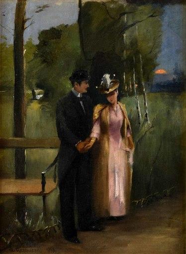 Alfons KARPINSKI - Gemälde - In the Park