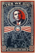 "Shepard FAIREY - Stampa Multiplo - ""Yes we did"""