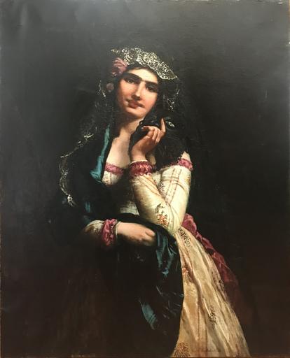 Giovan Francesco LOCATELLI - Peinture - La bella veneziana