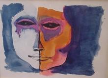 Oswaldo GUAYASAMIN - Drawing-Watercolor - Cabeza