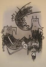 维夫里多•拉姆 - 版画 - LITHOGRAPHIE SIGNÉE AU CRAYON NUM/100 HANDSIGNED LITHOGRAPH