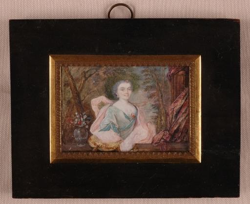 "Jean-Marc (Studio) NATTIER - Miniature - Jean Marc Nattier -CIRCLE, ""Portrait Miniature"", 18th C."