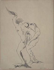 André MASSON - Disegno Acquarello - Métamorphose