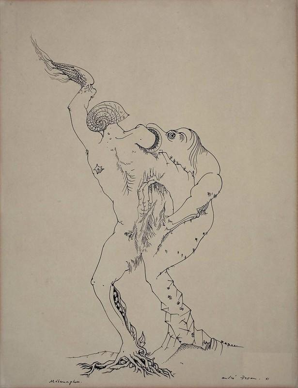 André MASSON - Drawing-Watercolor - Métamorphose