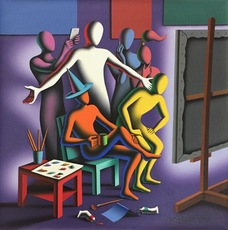 Mark KOSTABI - Painting - Lo and behold