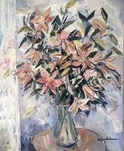 Roland LEFRANC - Painting - Bouquet d orchidées