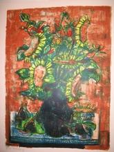 Raoul PRADIER - Grabado - Bouquet vert,1962.
