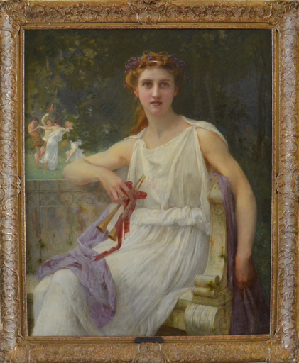 Guillaume SEIGNAC - Pittura - Euterpe (The Muse of Music)