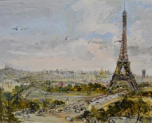 Michel JOUENNE - Peinture - PARIS LES DOUZES ETOILES