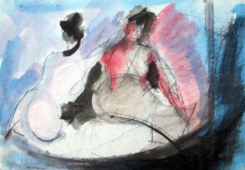Paolo AMBROSIO - Disegno Acquarello - Figure