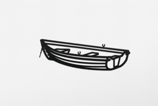 Julian OPIE - Sculpture-Volume - Boat 2, from Nature 1 Series