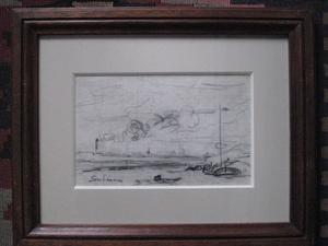 Armand GUILLAUMIN - Drawing-Watercolor - LE RAMEUR  1873