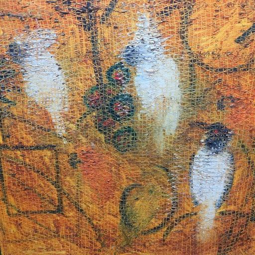 Hunt SLONEM - Painting - Haitian Rope no. 19