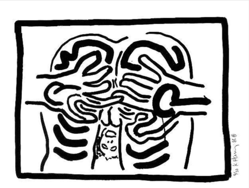 Keith HARING - Estampe-Multiple - Untitled from Bad Boys