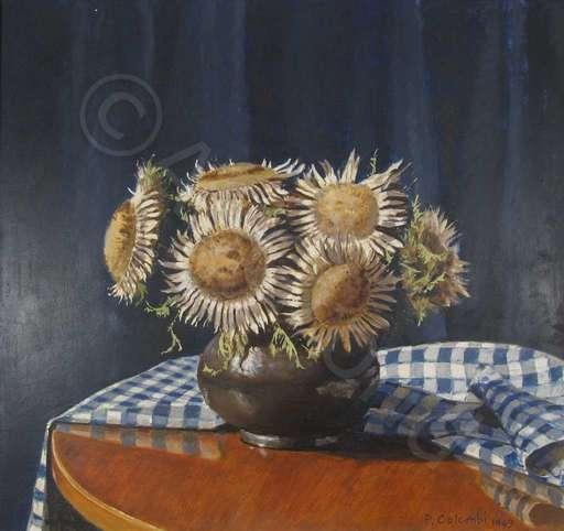 Plinio COLOMBI - Painting - Disteln