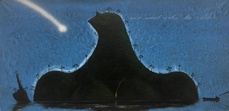 José BEDIA VALDÉS - Peinture - Una Senal Sobre la Isla