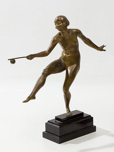 Joseph DESCHAMPS - Escultura - Manteniendo la bola en equilibrio