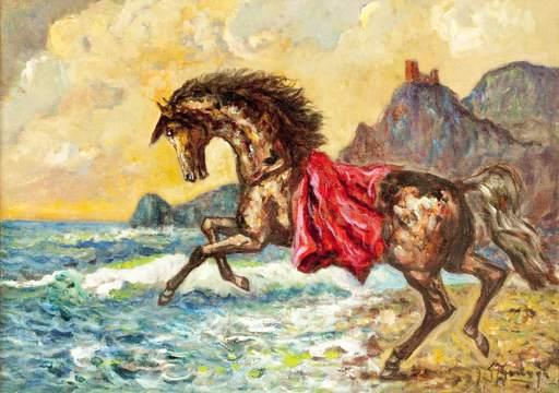 Giovan Francesco GONZAGA - Pittura - Corsiero dalla Gualdrappa rossa