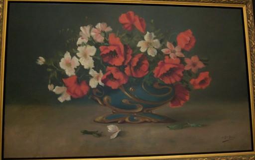 Juan GIL GARCIA - Peinture - Jarron con Flores
