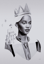 David BAYO - Drawing-Watercolor - 'Régalia'