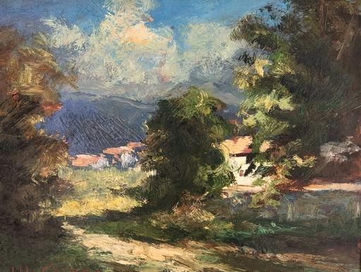 Michel CORNU - Pittura - Chevrier à Riverie