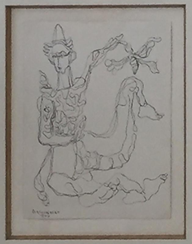 René PORTOCARRERO - Drawing-Watercolor - Untitled