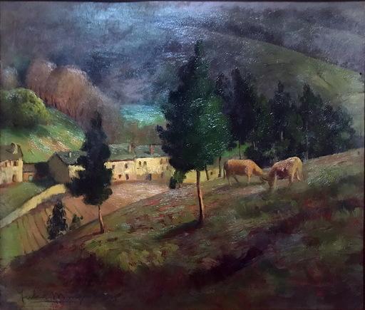 Julia MINGUILLON IGLESIAS - Pittura - LORENZANA CON VACAS