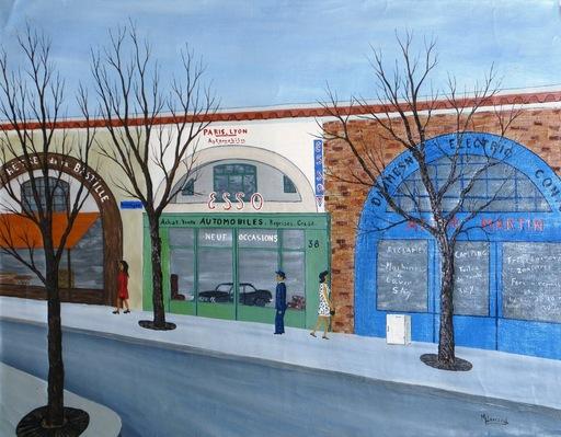 Maurice LOIRAND - Painting - *L'Auto Centre