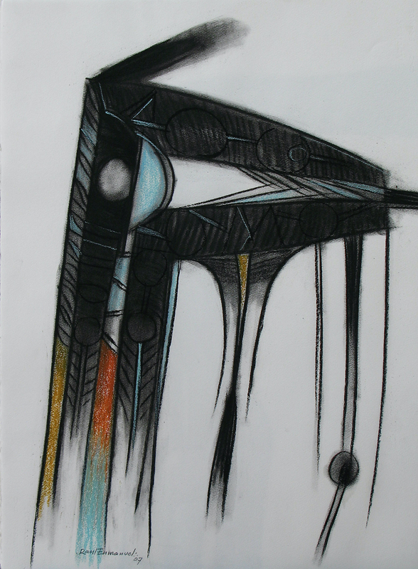 Raul Enmanuel POZO - Dibujo Acuarela - De la series Caballito II