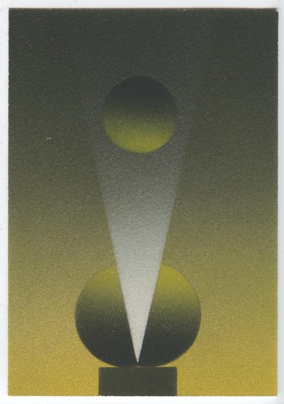 Julio LE PARC - Disegno Acquarello - POCHOIR ORIGINAL SIGNÉ À L'ENCRE NUM/50 HANDSIGNED NUM/ 50 P
