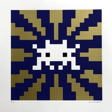 INVADER - Print-Multiple - Sunset (Gold & Blue)