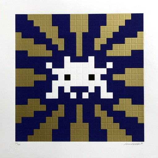 INVADER - Grabado - Sunset (Gold & Blue)