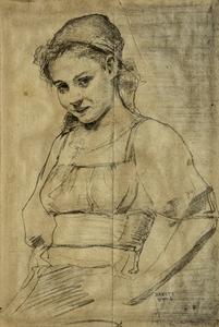 Ottó BADITZ - Zeichnung Aquarell - Women