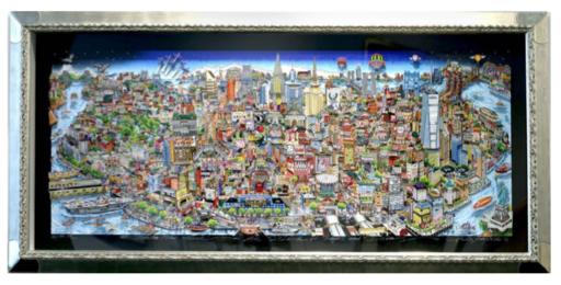 Charles FAZZINO - Druckgrafik-Multiple - Manhattan Mural