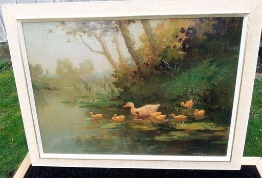 Jan Simon II KNIKKER - Gemälde - Eenden op het water